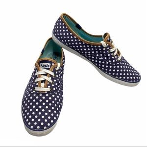 KEDS Champion Sneakers Womens blue polka Size 10